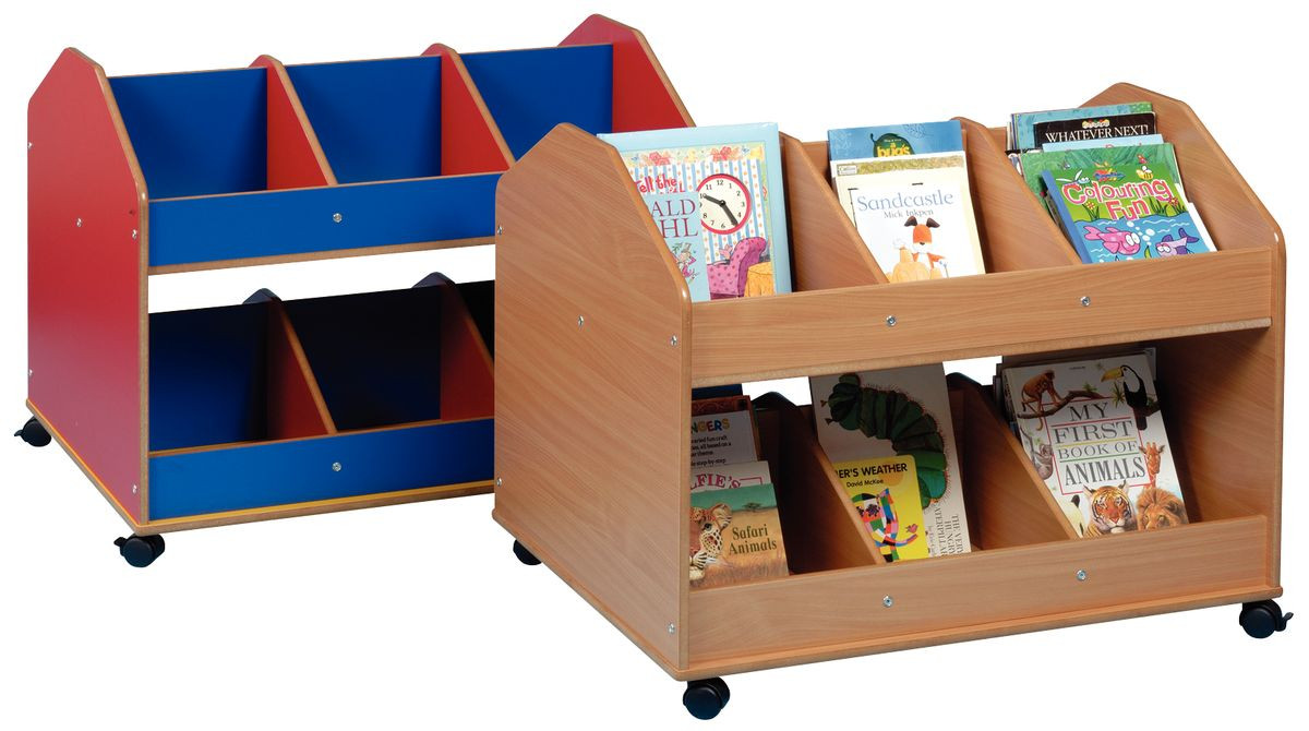 double sided mobile classroom organiser. Black Bedroom Furniture Sets. Home Design Ideas