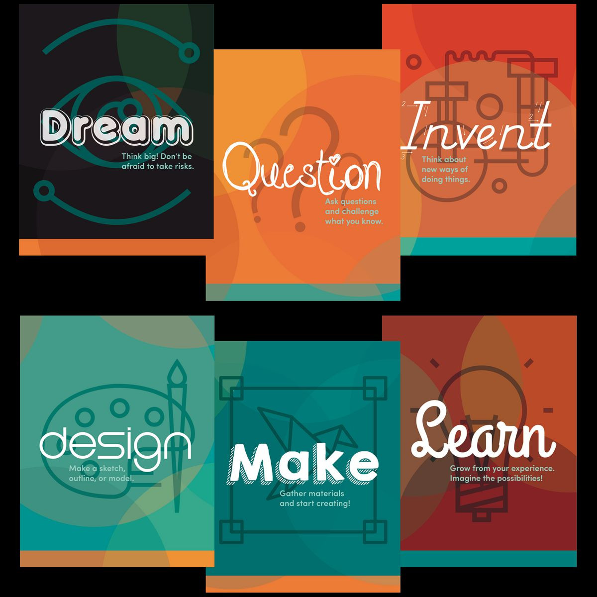 makerspace posters and bookmarks