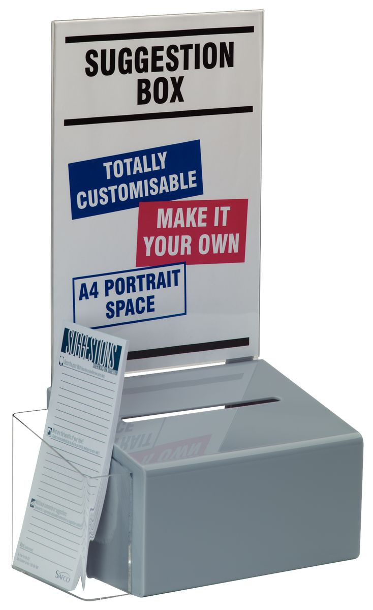 Acrylic Suggestion Box Gresswell Specialist Resources
