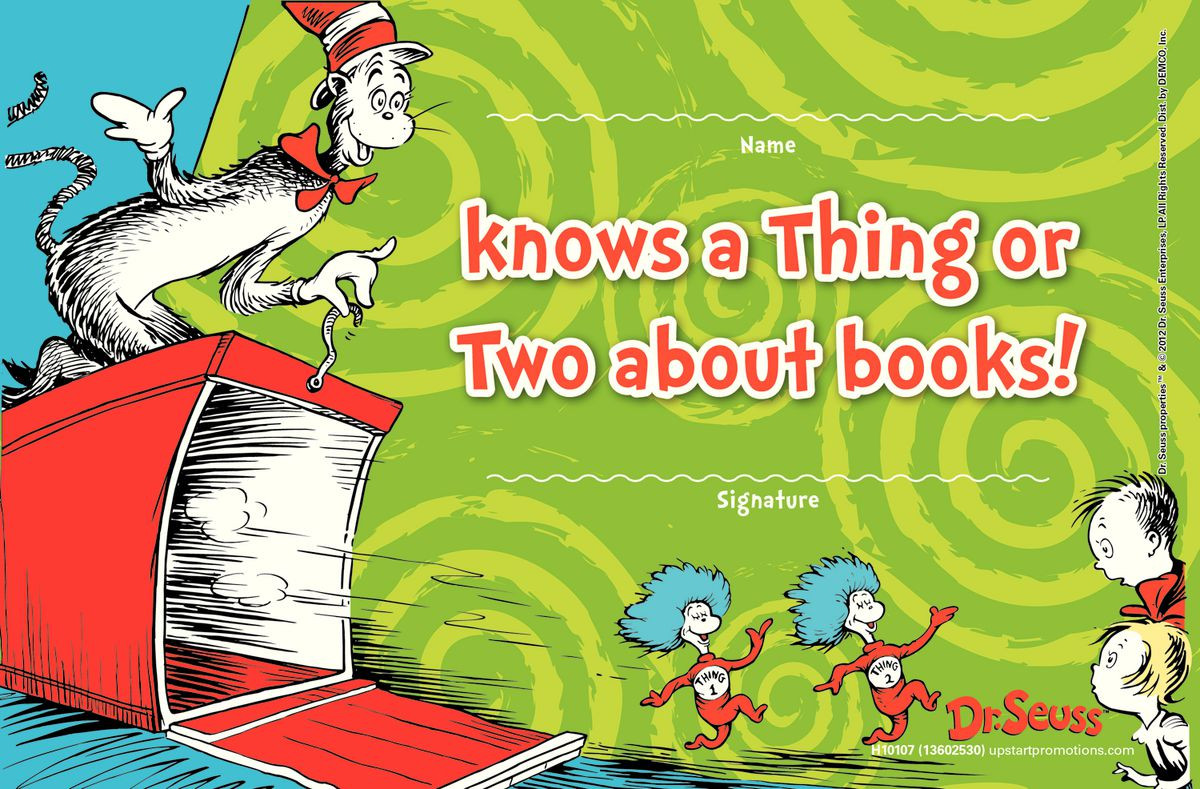 Dr Seuss Reading Promotions Gresswell Specialist