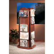 Revolving Newspaper Tower