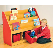 Milan Tiered Bookcase with Large Trays
