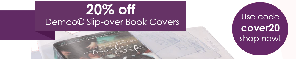20 percent off Demco® Slip-over Book Covers