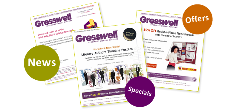 Subscribe to Gresswell newsletter for news, specials and offers