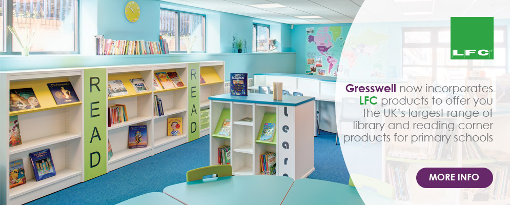 Gresswell LFC Merge 2017 - Now the UK's largest range of library products for primary schools