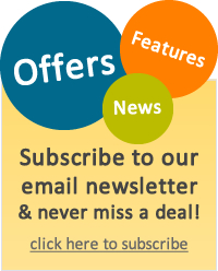 Receive offers, news and features from us by email