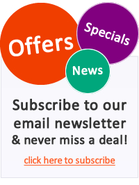 Receive offers, news and specials from us by email