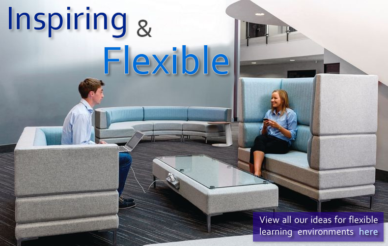 Create flexible learning and working areas