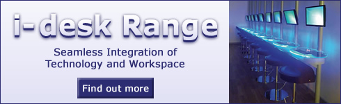 i-desk Range - Seamless Integration of Techonology and Workspace - Find out more >