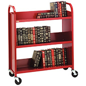 Ready-assembled Steel Book Trolleys - Gresswell