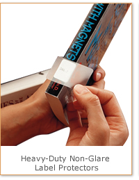 Heavy-Duty Non-Glare Label Protectors