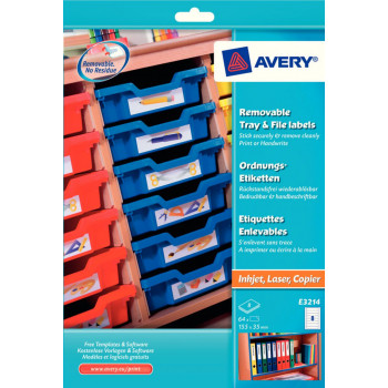 Avery® Removable Laser Labels Library Labels