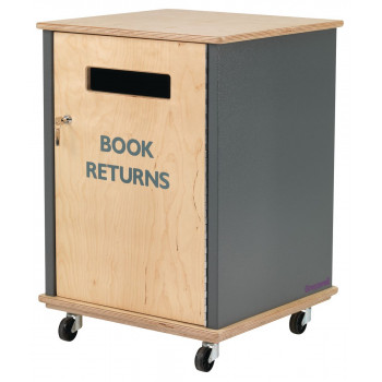 4218-161 Side Fed Indoor Book Return, Book Storage and Returns, Book Trolleys
