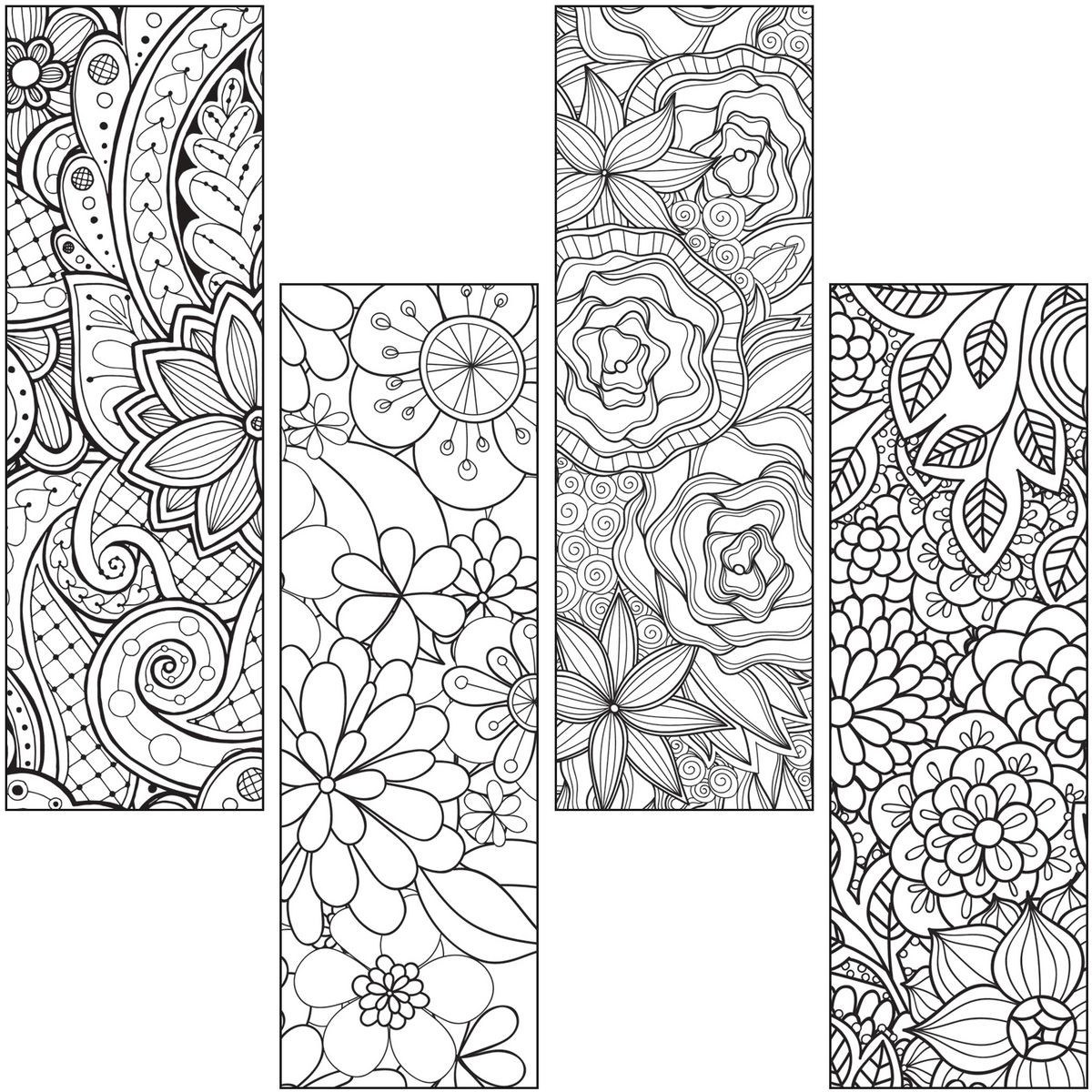 Simplicity image for printable bookmarks to color