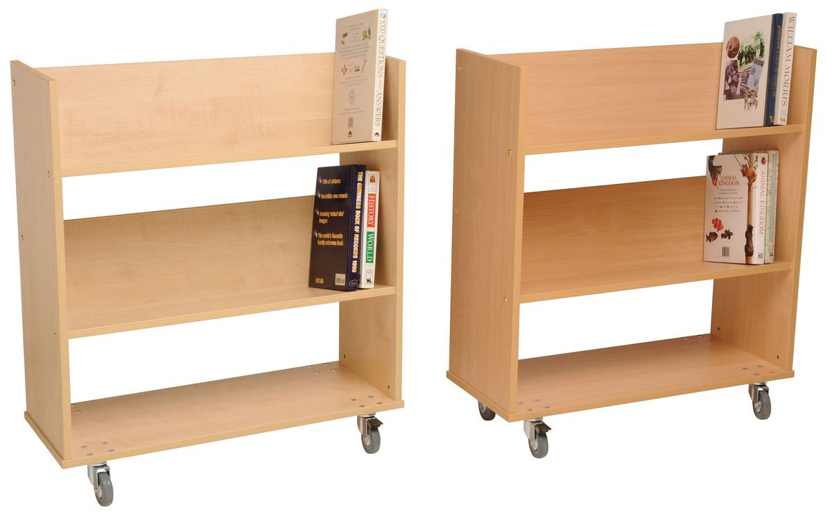 Wooden Double Sided Book Trolley Gresswell Specialist