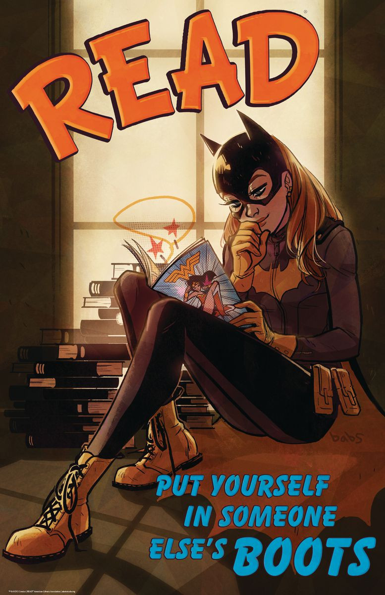 batgirl poster and bookmarks
