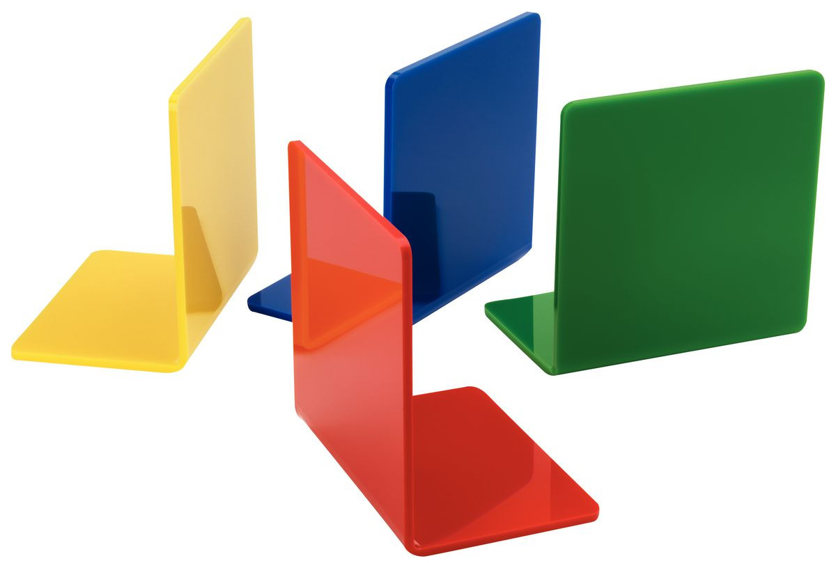 Acrylic Book End Coloured Gresswell Specialist Resources