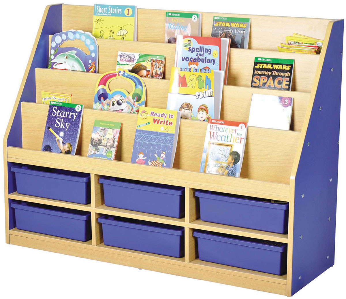 Milan Tiered Bookcase With Small Trays Gresswell