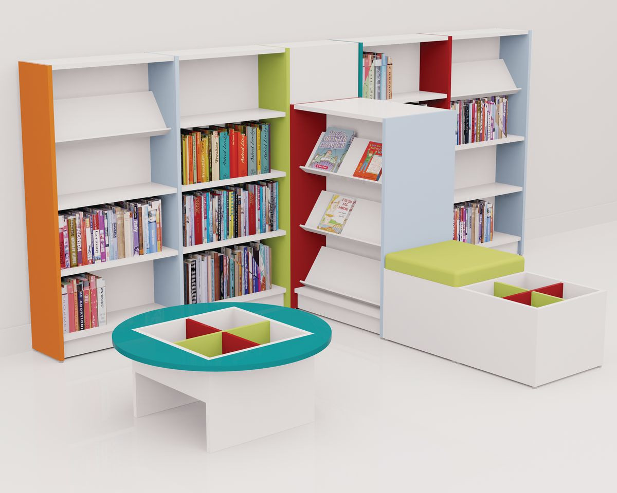 Primary School Library Package Orange Lime With White
