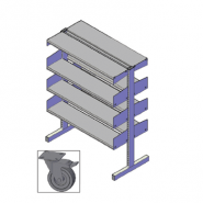 Cantilibra II Mobile Double-sided 6 Shelf Starter - H1200mm