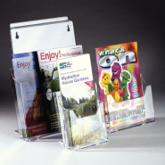 Slatwall Acrylic Literature Dispensers