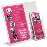 Poster Holder/Leaflet Dispenser