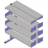Cantilibra II Double-sided 6 Shelf Add-on - H1200mm