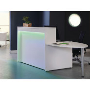 Welcome Reception Counter with D-end and Lighting