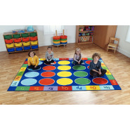 Rainbow ABC Rectangle Carpet