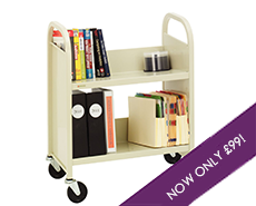 Steel book trolley 2 shelves - Gresswell